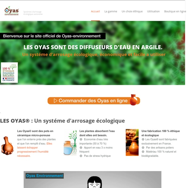 Les Oyas sont des diffuseurs d'eau en argile, écologiques et autonomes