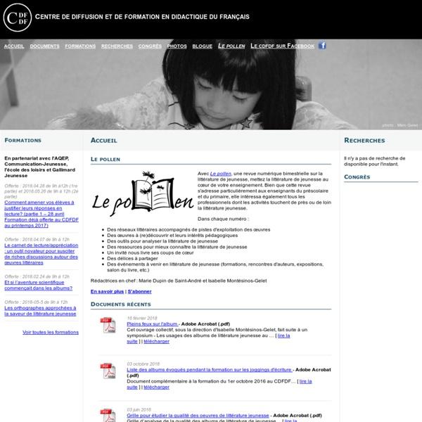 Accueil - Centre de diffusion et de formation en didactique du français