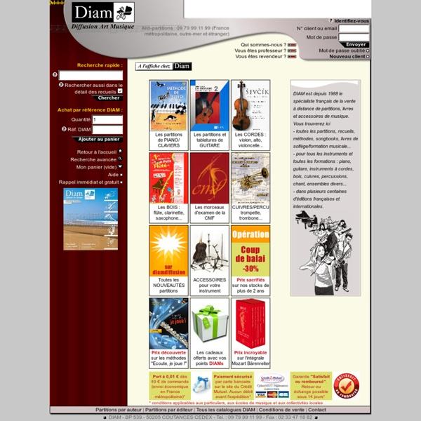 DIAM Diffusion - Librairie musicale de partitions sur Internet