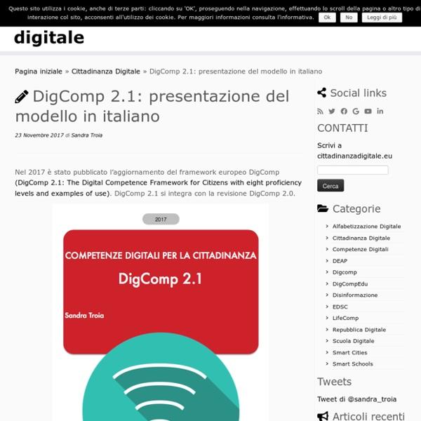 DigComp 2.1: presentazione del modello in italiano