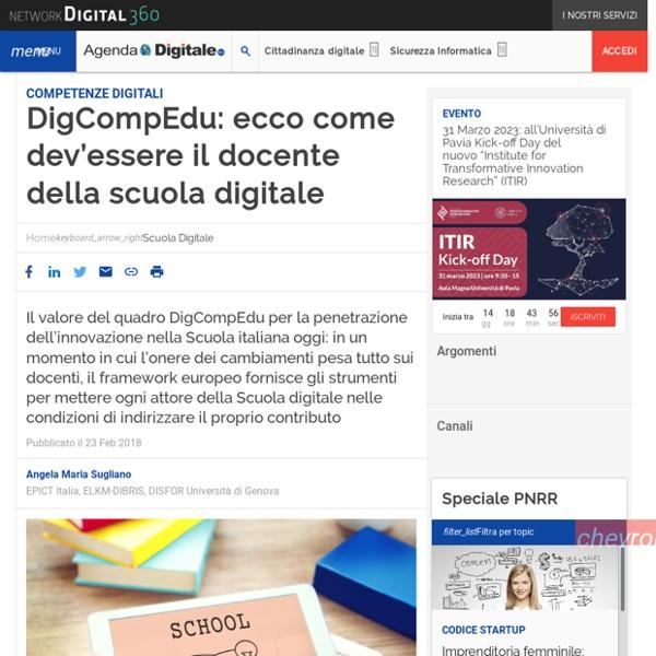 DigCompEdu: ecco come dev'essere il docente della scuola digitale