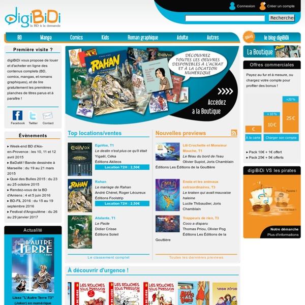 DigiBiDi, la BD à la demande - Location de bande dessinée, comics, manga, roman graphique online