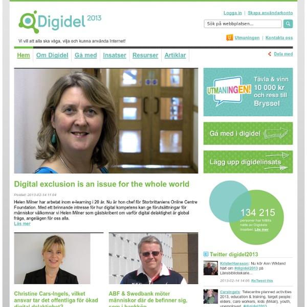 Digidel 2013 - En kampanj för digital delaktighet i Sverige