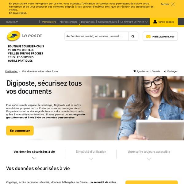 Digiposte, le coffre-fort électronique pour recevoir, archiver et partager ses documents en sécurité