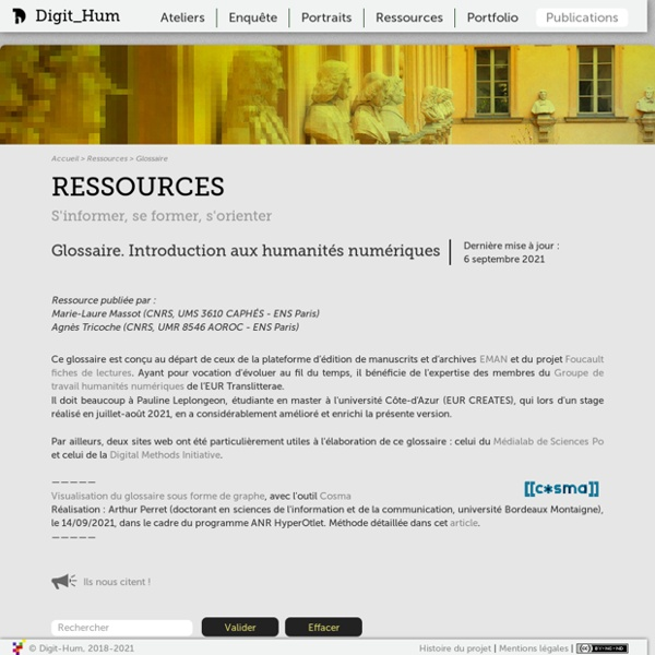 Digit_Hum - Glossaire