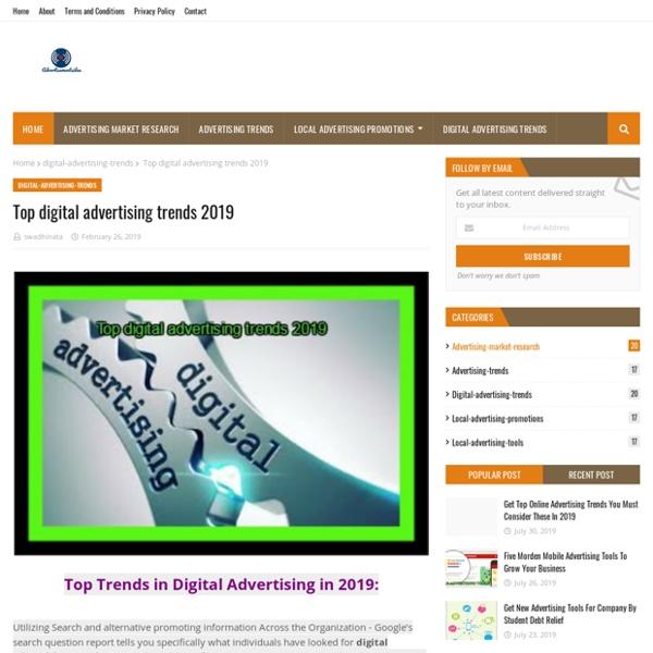 Top digital advertising trends 2019