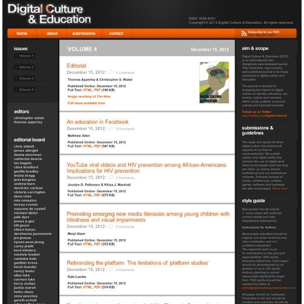 Digital Culture & Education