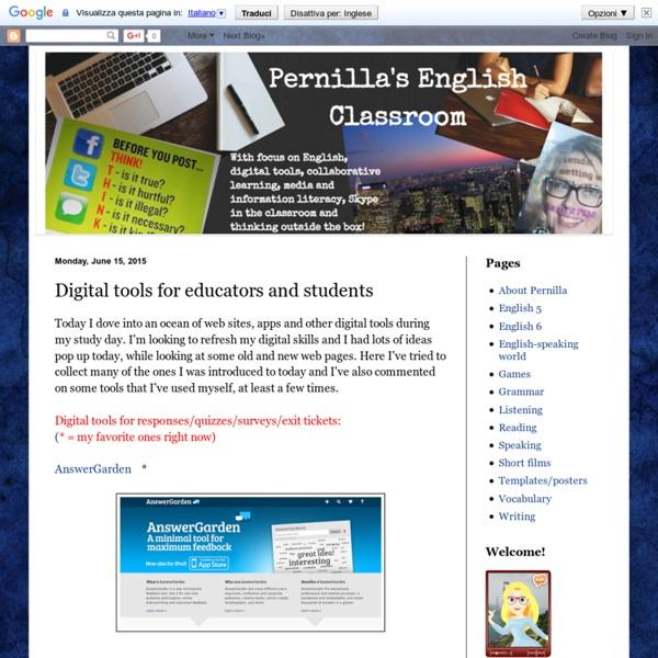 Digital tools for educators and students
