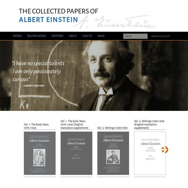 Digital Einstein Papers Home