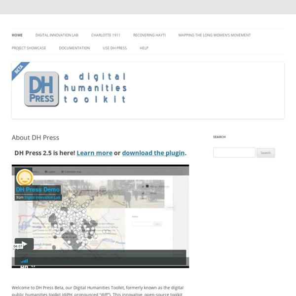 Digital Humanities Toolkit
