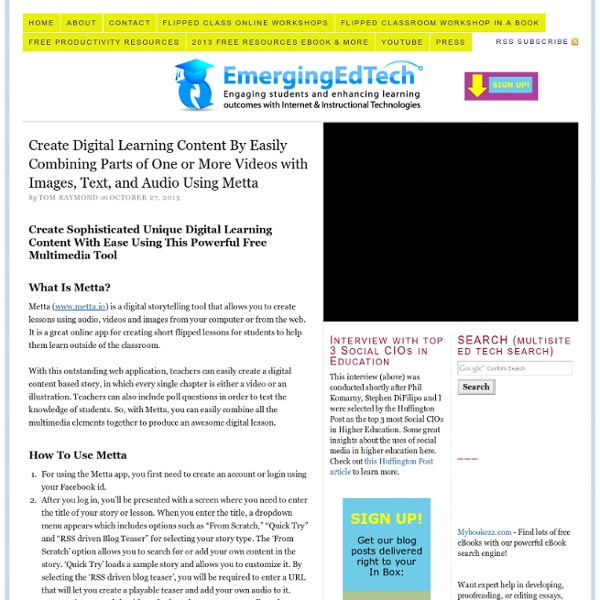 Create Digital Learning Content Combine Video Images Text Audio