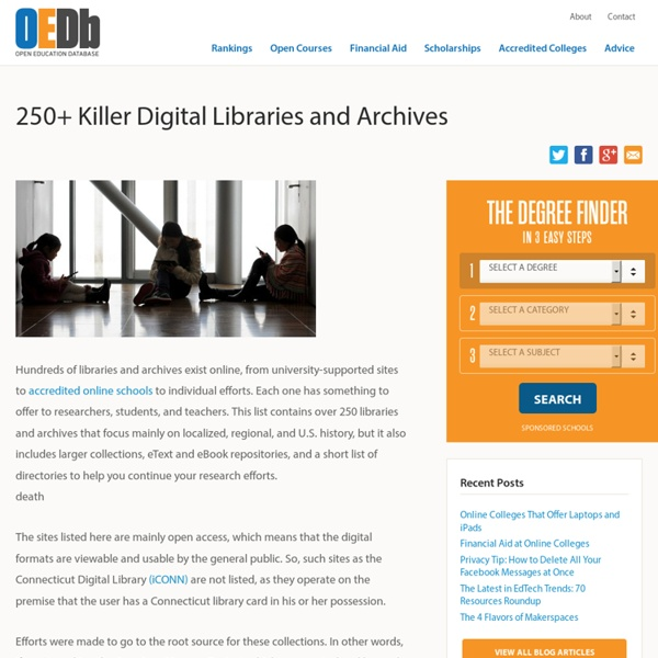 250+ Killer Digital Libraries and Archives