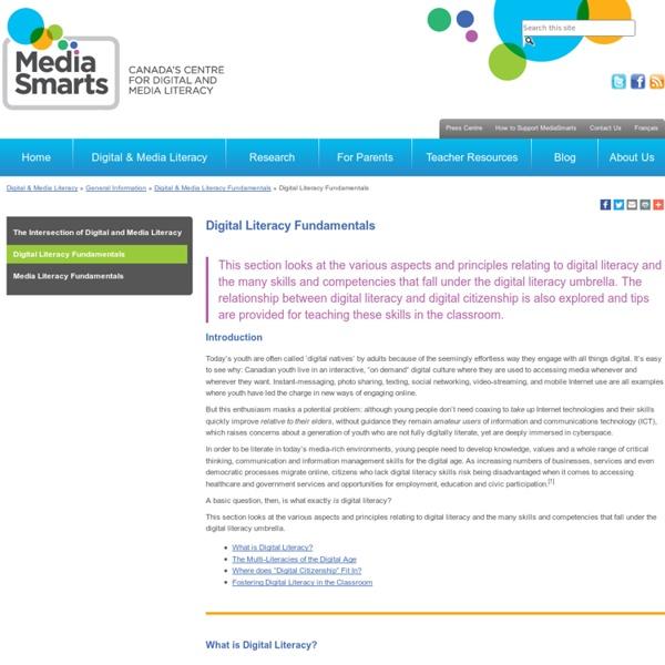 Digital Literacy Fundamentals