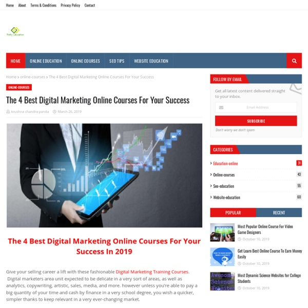The 4 Best Digital Marketing Online Courses For Your Success