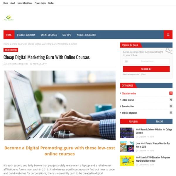 Cheap Digital Marketing Guru With Online Courses