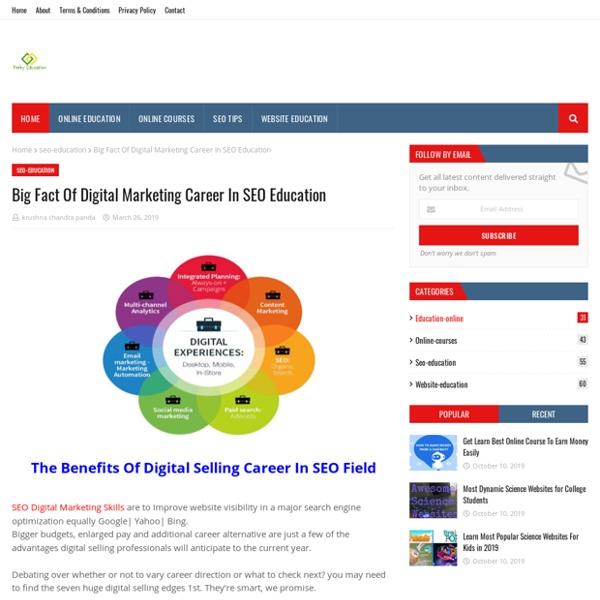 Big Fact Of Digital Marketing Career In SEO Education