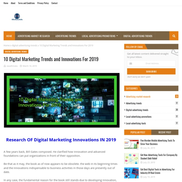 10 Digital Marketing Trends and Innovations For 2019