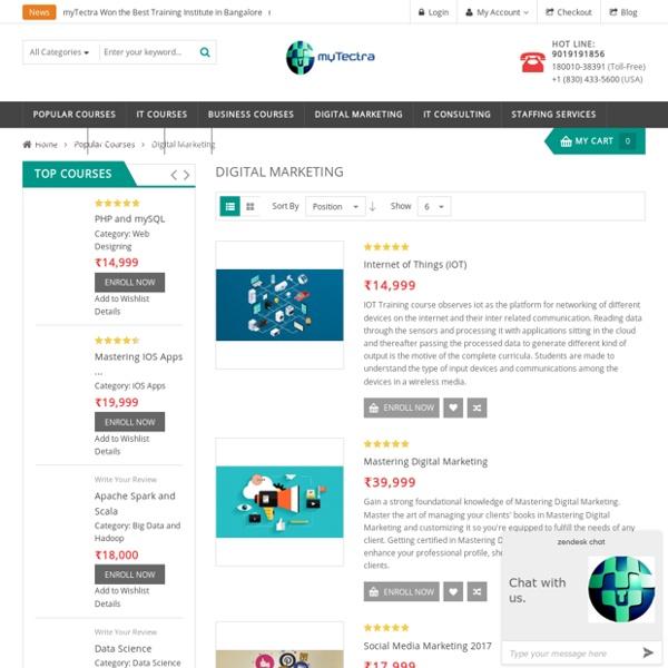 Digital Marketing - Popular Courses