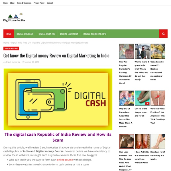 Get know the Digital money Review on Digital Marketing In India