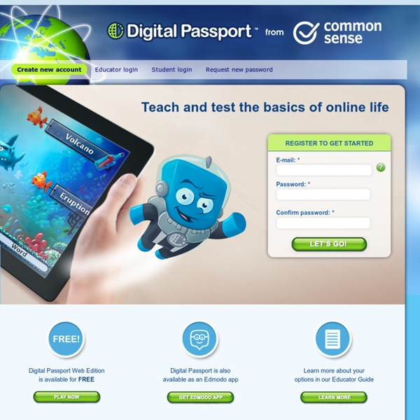Digital Passport by Common Sense Media | Pearltrees