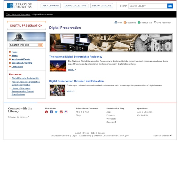 Digital Preservation (Library of Congress)