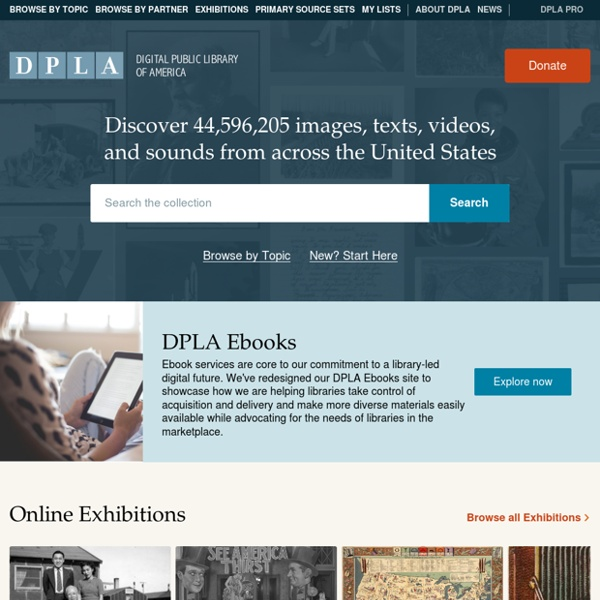 Welcome · Digital Public Library of America