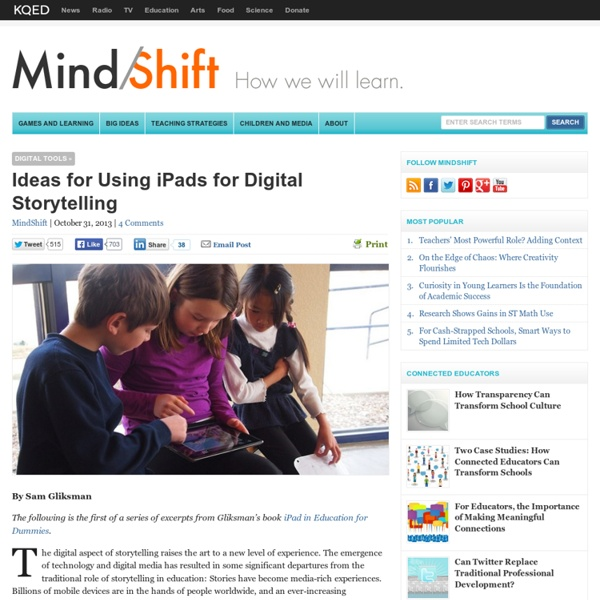 Ideas for Using iPads for Digital Storytelling