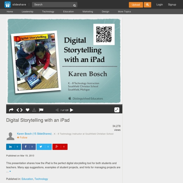 Digital Storytelling with an iPad