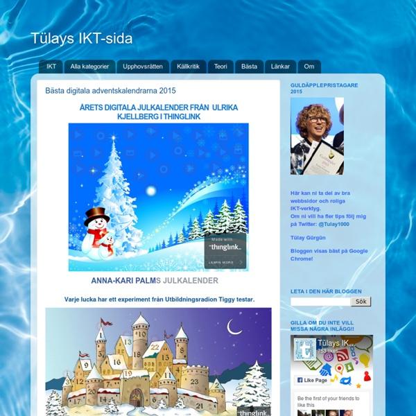 Bästa digitala adventskalendrarna 2015