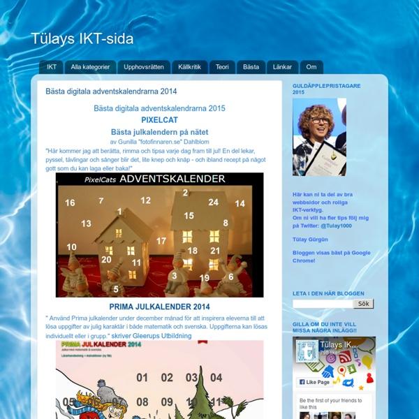 Tülays IKT-sida: Bästa digitala adventskalendrarna
