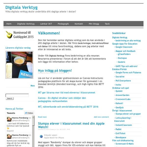 Vilka digitala verktyg skulle underlätta ditt dagliga arbete i skolan?