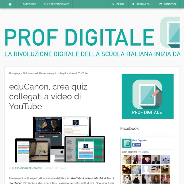 EduCanon, crea quiz collegati a video di YouTube