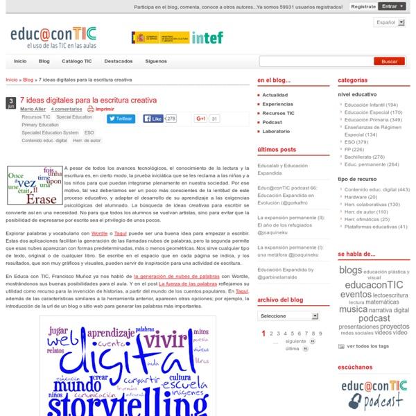 7 ideas digitales para la escritura creativa