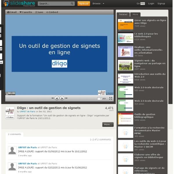 Diigo : un outil de gestion de signets en ligne