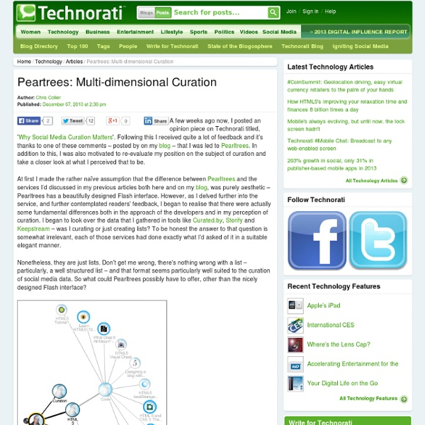 Peartrees: Multi-dimensional Curation