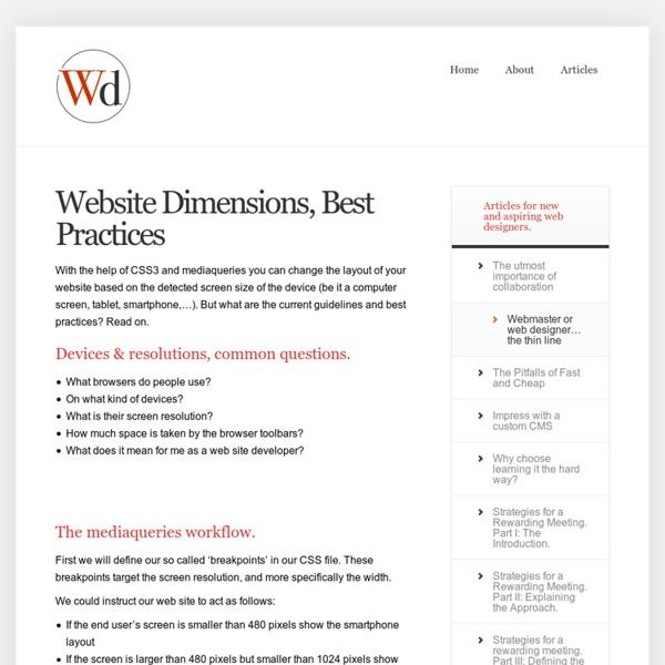 Website dimensions - exact pixels - live check