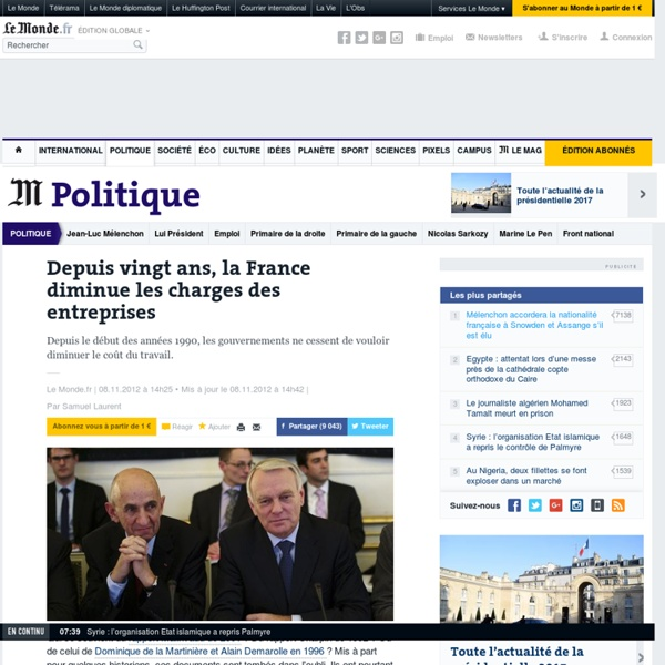 Depuis vingt ans, la France diminue les charges des entreprises