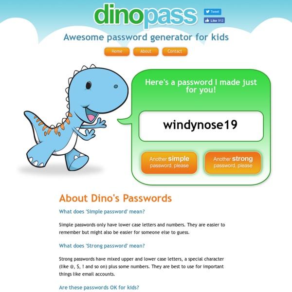 DinoPass - Simple password generator for kids