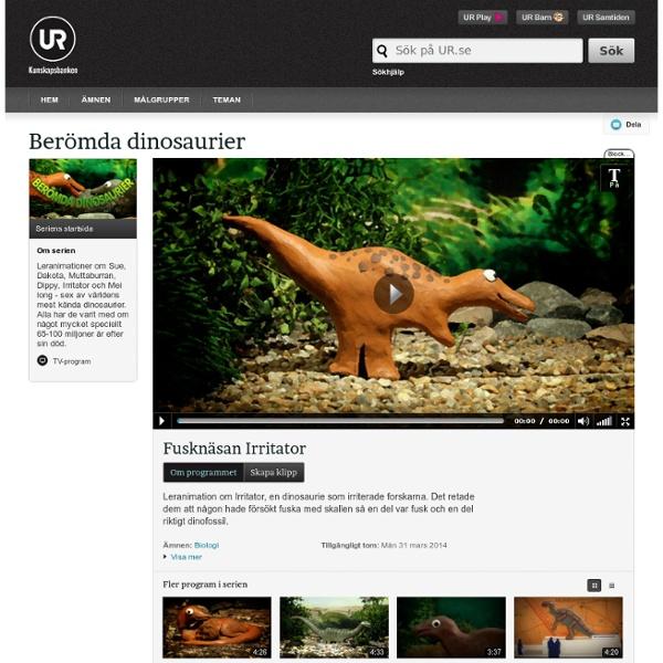 Berömda dinosaurier : Fusknäsan Irritator