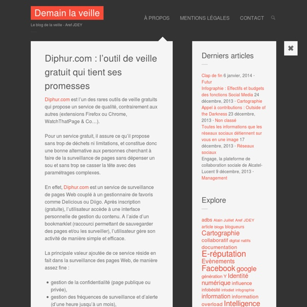 Diphur.com : l'outil de veille gratuit qui tient ses promesses