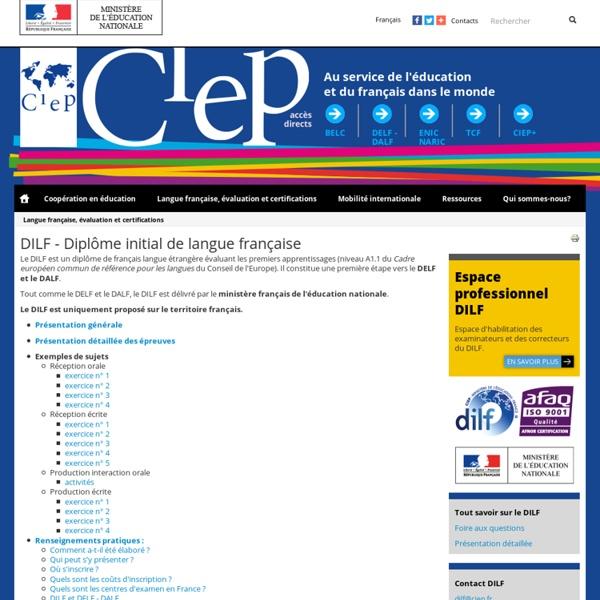 DILF - Diplôme initial de langue française