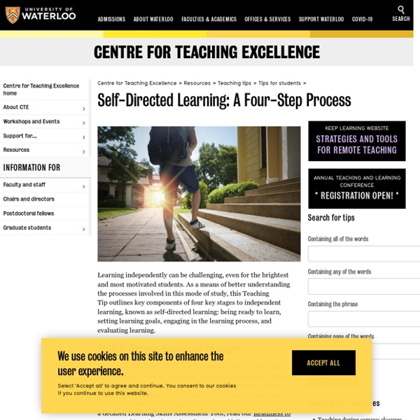 Self-Directed Learning: A Four-Step Process