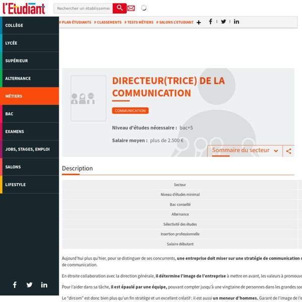 Directeur de communication