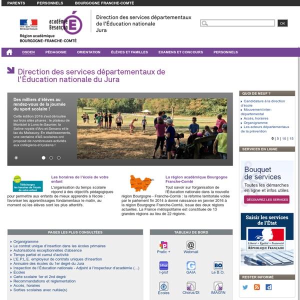 Direction des services départementaux de l'éducation nationale du Jura