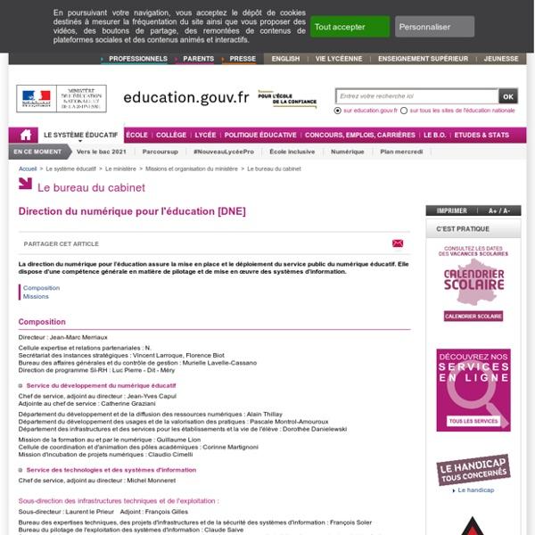 Direction du numérique pour l'éducation [DNE]