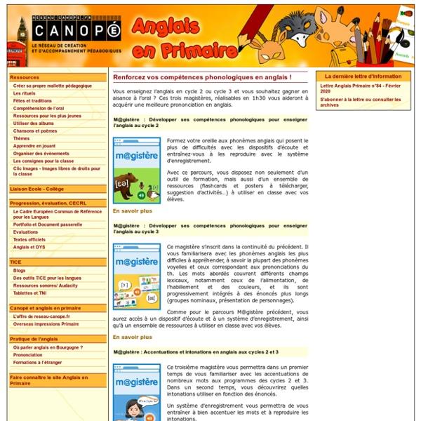 Canopé de l'académie de Dijon - Anglais en primaire