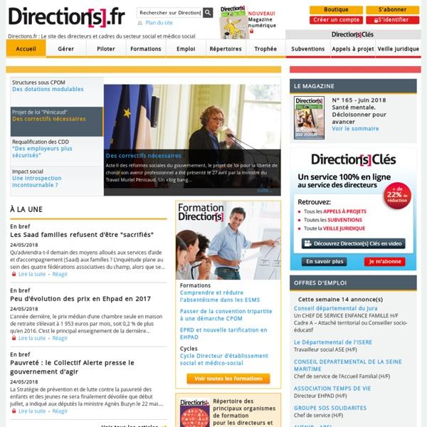Directions.fr - Le site des directeurs et cadres du secteur social et médico social