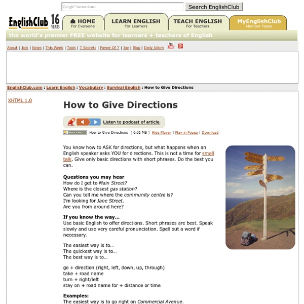 How to Give Directions