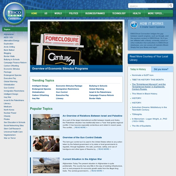 EBSCO Online Library Search Engine Directory - Find Articles, News, Periodicals and Other Premium Online Content