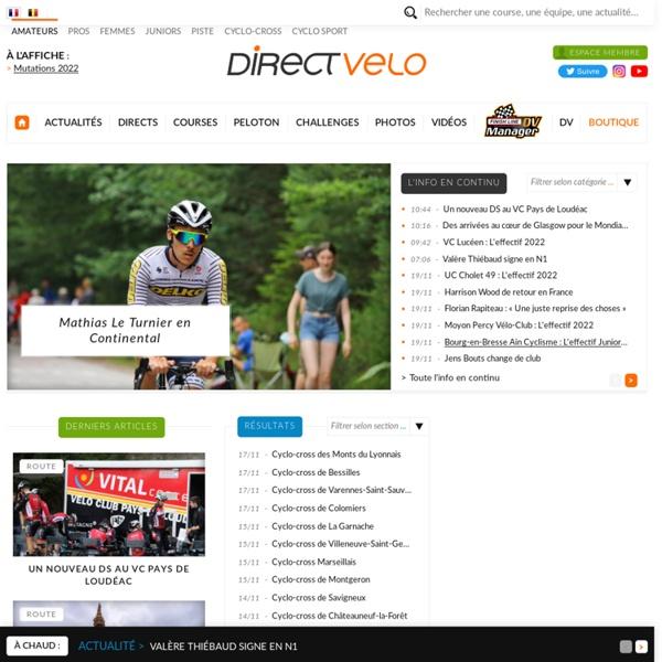 DirectVelo : courses de vélo en direct, actualité du cyclisme amateur